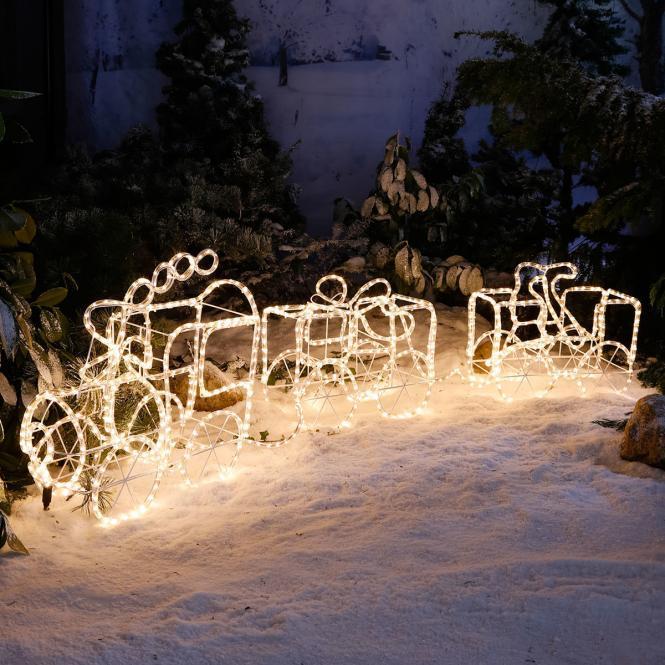 *All for X-Mas*: LED-Zug mit zwei Waggons aus Eisen