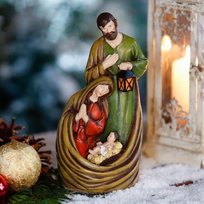 Krippenszene Heilige Familie