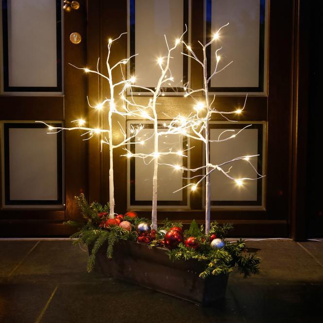 "*Merry X-Mas*: LED-Bäume ""Wintermärchen"" aus Kunststoff (Kopie) Pötschke"