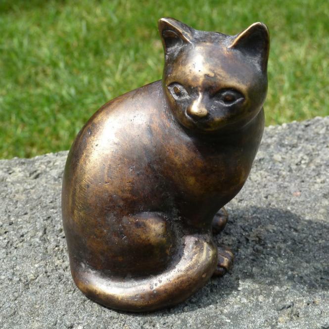 Bronze-Figur Katze Bijou