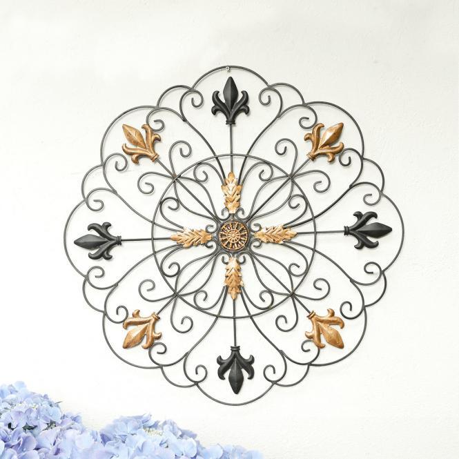 """*NEU*: Wanddekoration """"Goldene Blüte Ronda"""" aus Metall"""