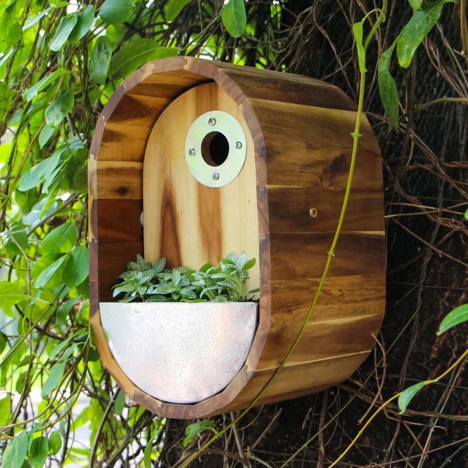 """Vogelhaus """"Luna"""" aus Akazienholz, braun"""