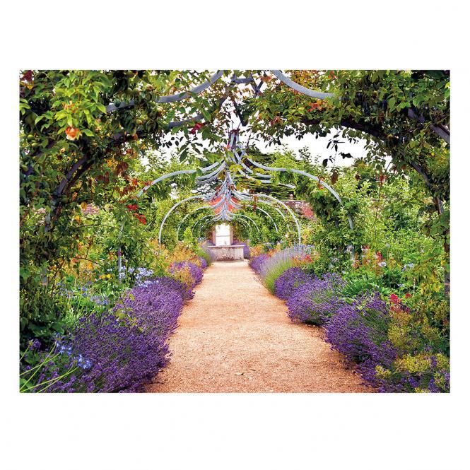 Gartengemälde Rosenbogenweg 70 x 50 Zentimeter