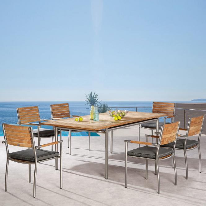 Dining Set Murano, 6 Personen