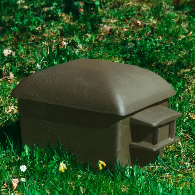 *NEU*: Hummelhaus aus Holzbeton, inklusive Ausstattung, grün