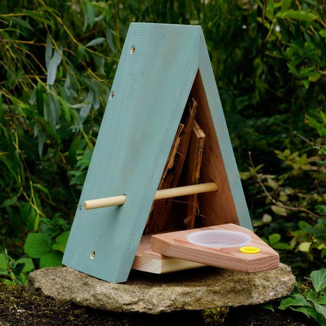 """*NEU*: Schmetterlingshaus """"Sonnengarten"""" aus Holz, grün/braun"""