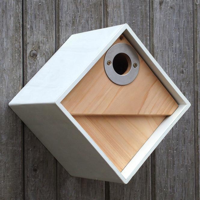 """*NEU*: Nistkasten """"Urban Design"""" aus Clayplas+, weiß/braun"""