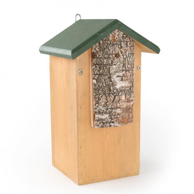 *NEU*: Spechtnistkasten aus Holz, braun/grün
