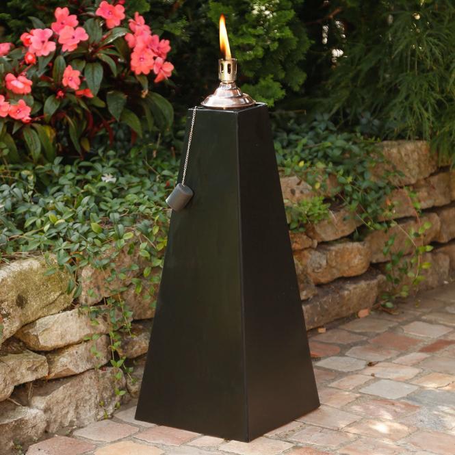 """*NEU*: Gartenfackel """"Pyramide"""" aus Eisen, schwarz"""