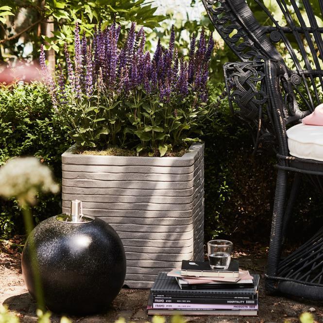 Pflanzkübel ROW quadratisch, 40x40x40 cm,  grau