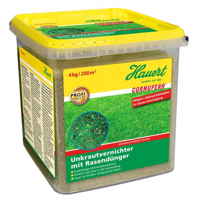 Cornufera UV Unkrautvernichter mit Rasendünger, 4 kg