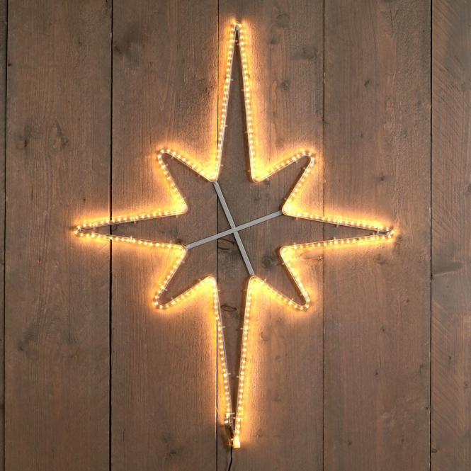 *Merry X-Mas*: LED-Rentier aus Metall, springend, weiß (Kopie)
