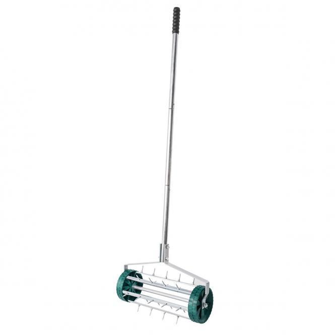 UPP Rollender Rasenlüfter mit Stiel, 110 cm, grün