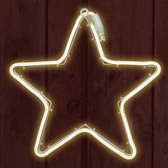 *Merry X-Mas*: LED-Polarstern aus Metall, weiß (Kopie)