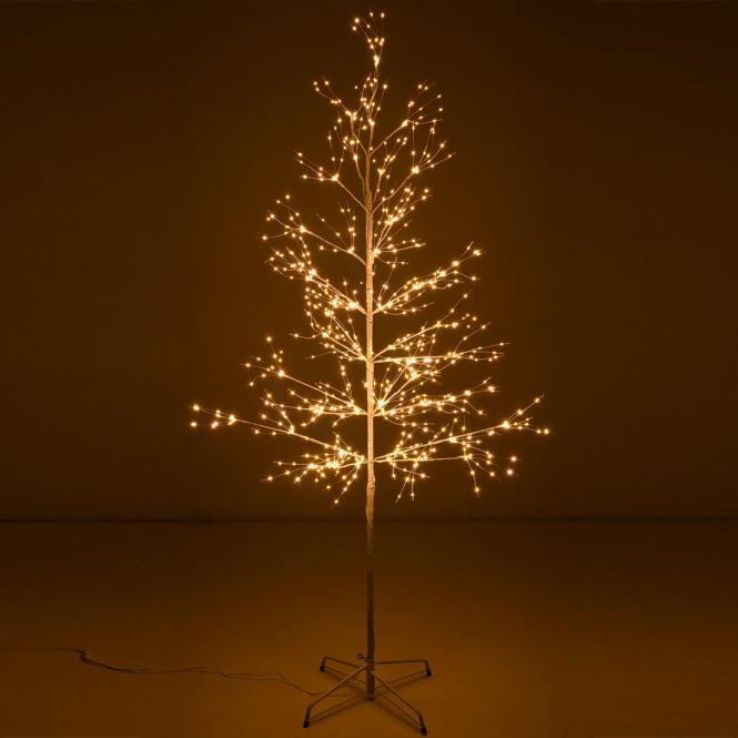 "*Merry X-Mas*: LED-Baum ""Snow Light"" aus Metall, weiß"