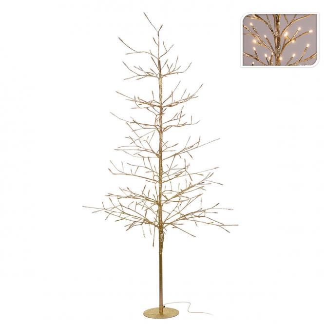 """*Merry X-Mas*: LED-Baum """"Goldy"""" aus Metall, mattgold"""