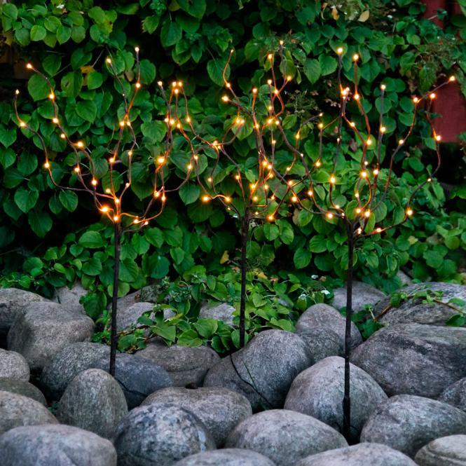 """*Merry X-Mas*: LED-Baum """"Tobby"""" aus Kunststoff, braun, 3er-Set"""