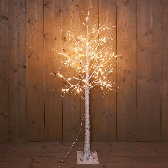 """*For X-Mas*: LED-Baum """"Birke"""" aus Metall und Kunststoff, weiß"""