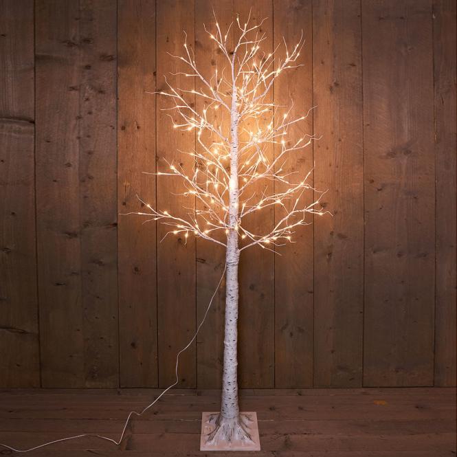 """*For X-Mas*: LED-Baum """"Birke"""" aus Metall und Kunststoff, weiß (Kopie)"""