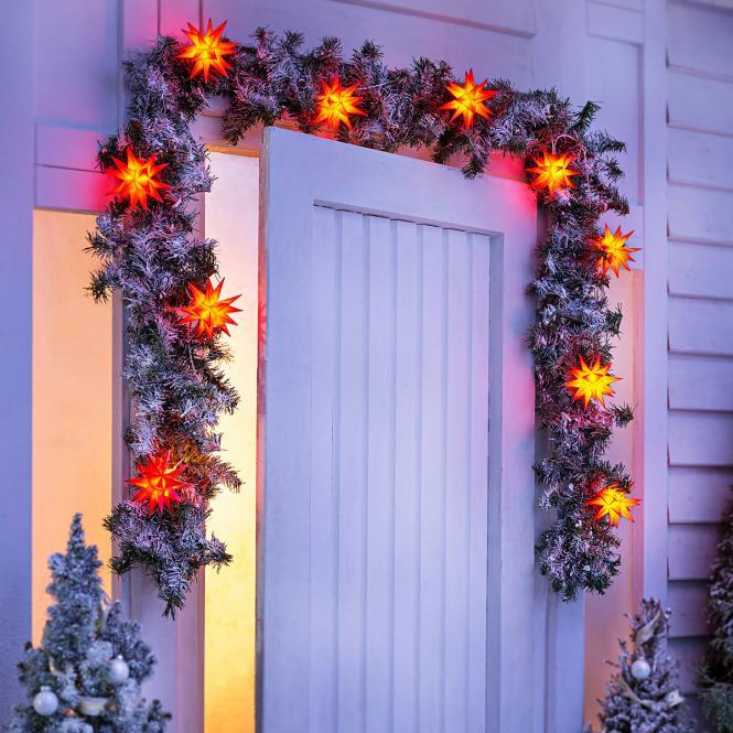 LED-Lichterkette Weihnachtstern, rot