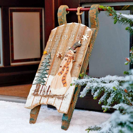 Schlitten preisvergleich die besten angebote online kaufen - Weihnachtsdeko landhausstil aussen ...