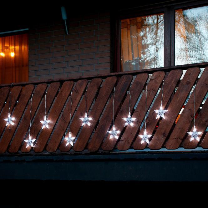 LED-Außenlichtervorhang Sternenglanz bei Gärtner Pötschke