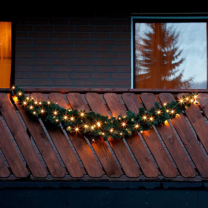 LED-Girlande Winterleuchten bei Gärtner Pötschke