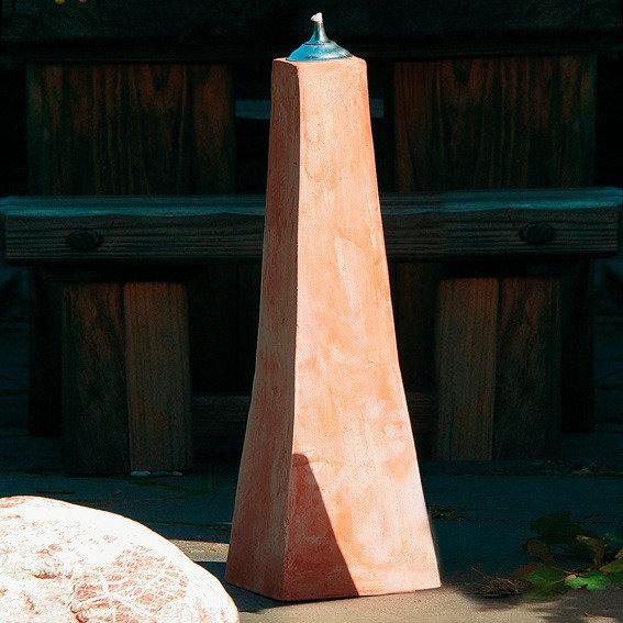 Terracotta-Pyramiden-Öllampe, mittel