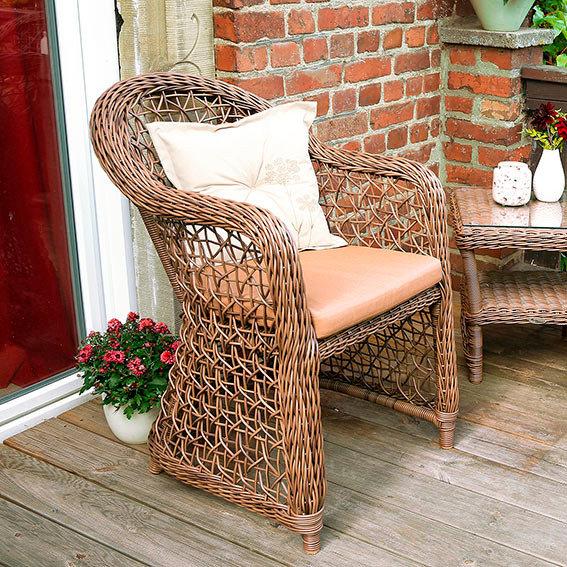 Outdoor-Rattan-Sessel Malaga inkl. Auflage