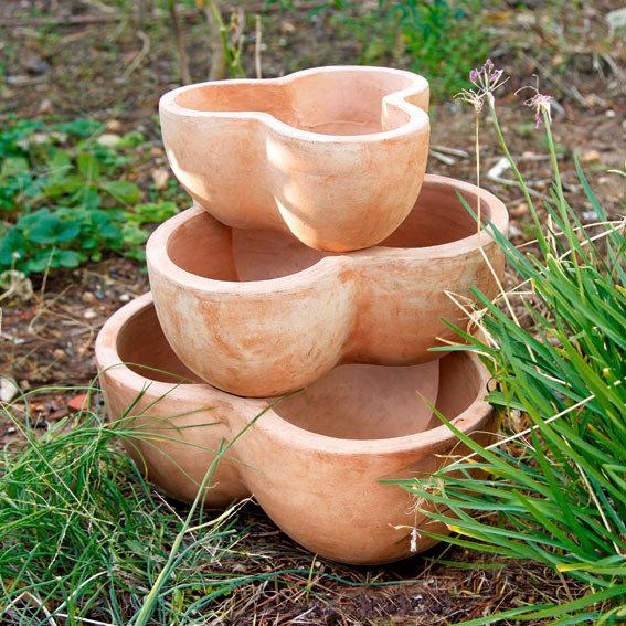 Etagen-Pflanztopf Terracotta