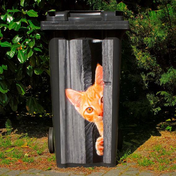 Mülltonnen-Aufkleber Katze