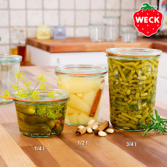 WECK Sturzform, 6er-Set, 0,75l (850ml)