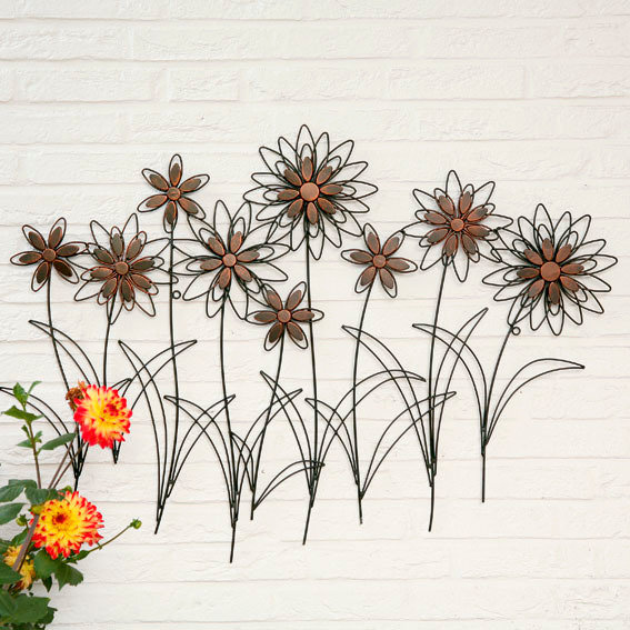 Wandbild Sommerblumen