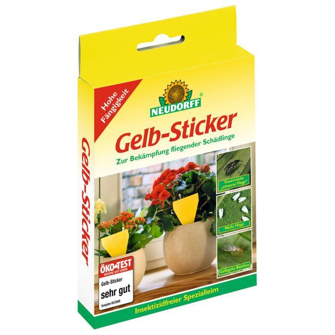 Neudorff Gelb-Sticker, 10 Stück