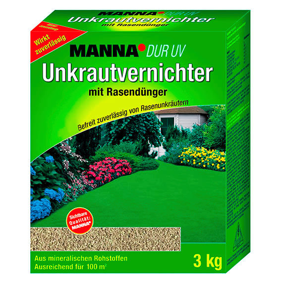 Manna® DUR UV Unkrautvernichter mit Rasendünger, 3 kg