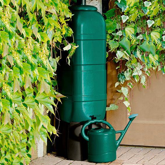 Regentonne 100 Liter einschließlich Stand, Ablaufhahn und Füllautomat