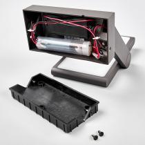 Solar-LED-Außenwandleuchte Valerian mit Bewegungsmelder, 16x23,3x15,2 cm, Aluminium, grau | #12