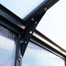Gewächshaus Glory 8 x 8, inkl. Stahlfundament und Zubehör, 244 x 244 x 268 cm, anthrazit | #12