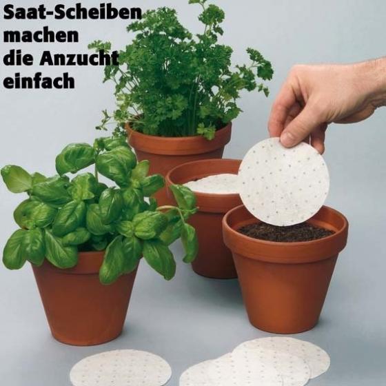 Saatscheiben Basilikum Gustosa, 10 cm Durchmesser | #2