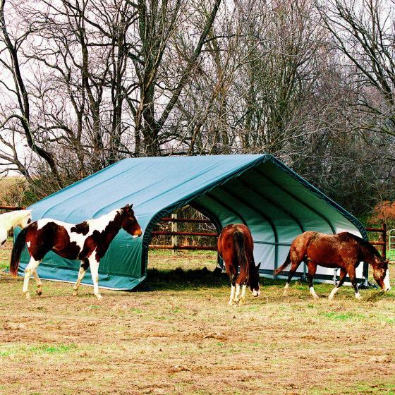 ShelterLogic Weidezelt Run-in-Shed 40,87m² inkl. Sturmanker | #2