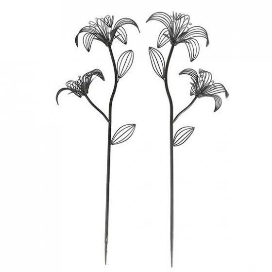 Blumen-Stecker Black Lilies | #2