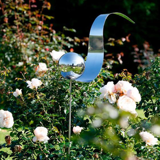 Lichtfang Rosenkugel aus Edelstahl | #2