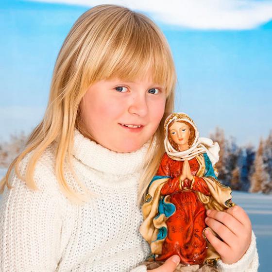 Außen-Krippenfiguren, Set Heilige Familie, Polyresin, bunt | #2