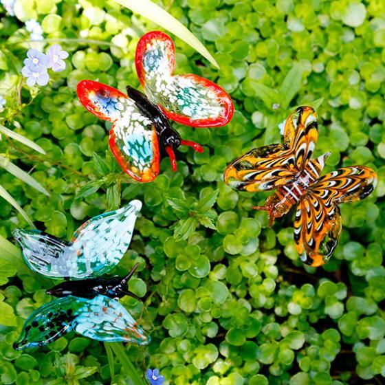 Gartendekoration Glasstecker Schmetterlinge | #2
