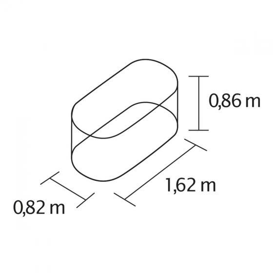 VITAVIA Hochbeet Terra 858, granit 162x82x86 cm | #2