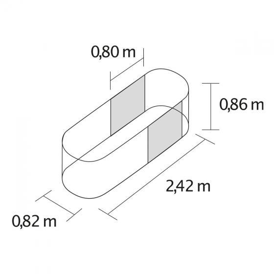 Vitavia Hochbeet Erweiterung, Aluminium, rot, 80x86 cm | #2