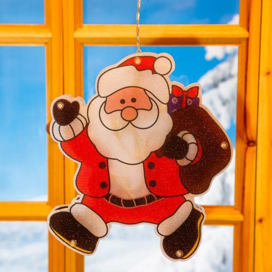 LED-Fensterdeko Weihnachtsmann Manni | #2