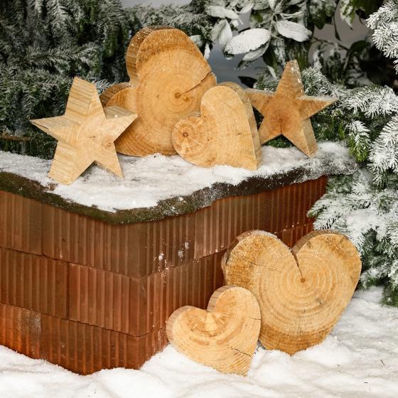 Holz-Herz Natürliche Weihnacht, klein   #2