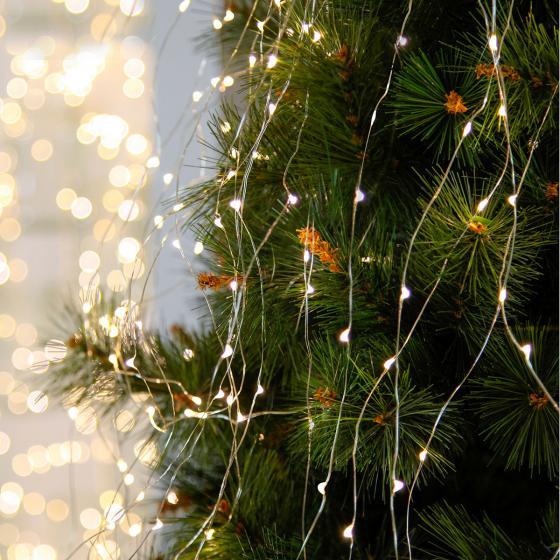 Star Micro-LED-Wasserfall-Lichterkette 125 LEDs, Kunststoff, silber | #2