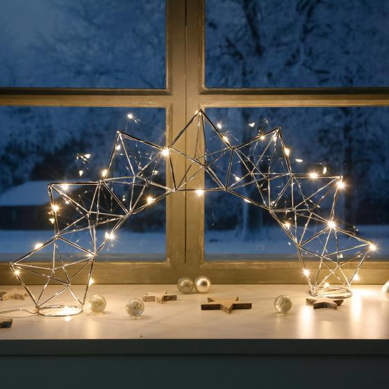 LED-Fensterleuchter Modern Christmas, 25 LEDs | #2